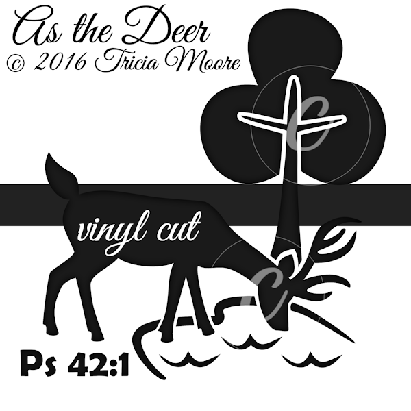 as the deer vinyl cut file svg tree water clipart faith