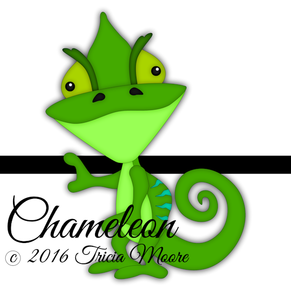chameleon digital clipart svg reptile file cut