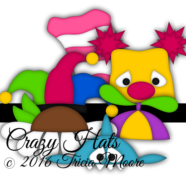 cut file crazy hat clipart