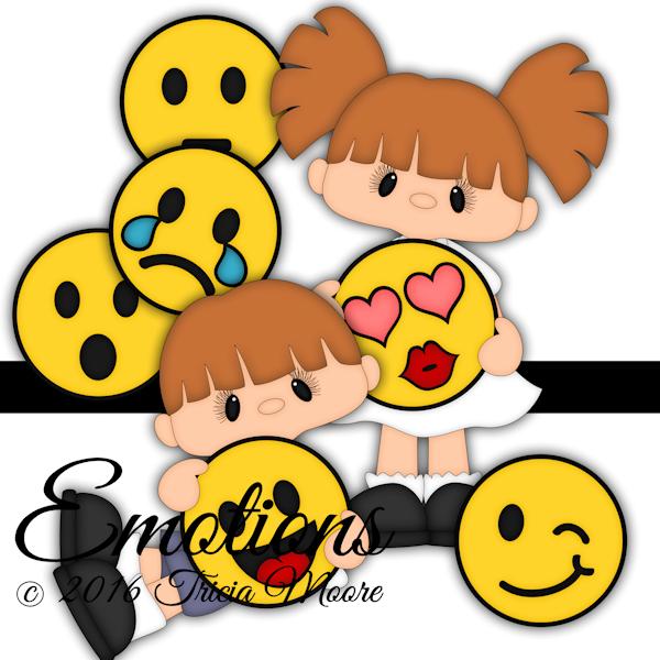 emoji paper piecing pattern girl boy happy sad clipart cut file