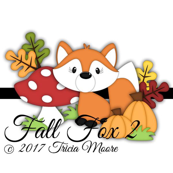 fall cut file clipart fox leaves pumpkins digi stamp thanksgiving