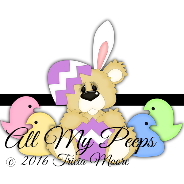 little scraps of heaven designs easter bunny peeps bear