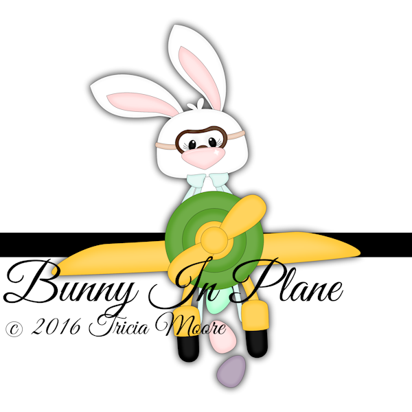 bunny in plane easter rabbit eggs