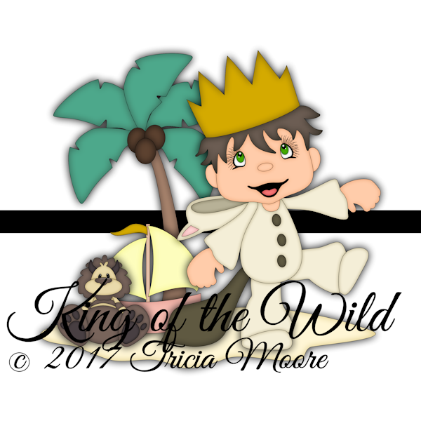 king of the wild where the wild things are clipart cut file digi stamp palm tree boy sailboat