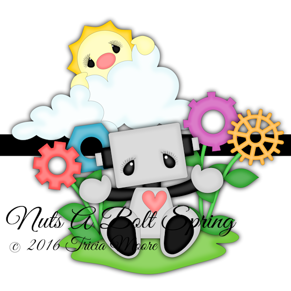 nuts a bolt about spring sun clouds clipart flowers nuts bolts robot digital designs graphics