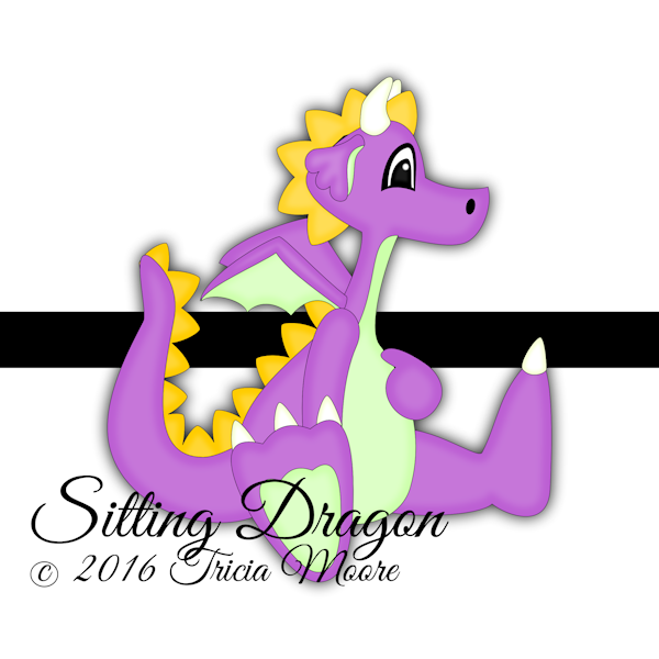 sitting dragon make believe fantasy