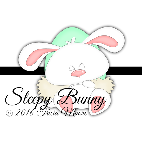 sleepy bunny easter egg spring