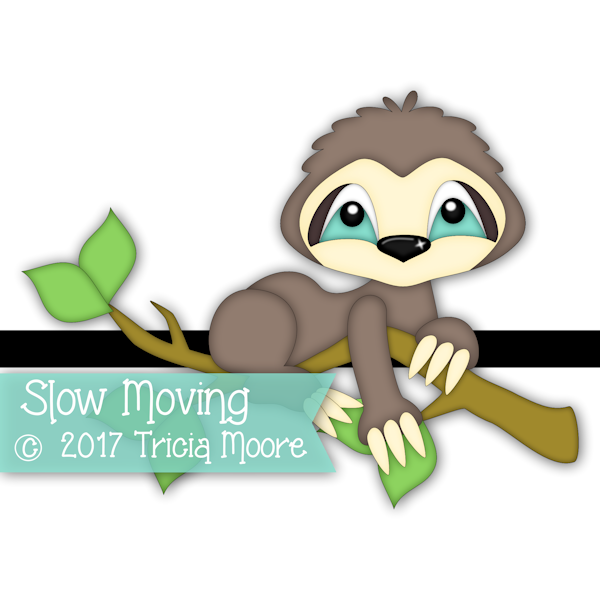 sloth clipart digi stamp pattern cut file svg