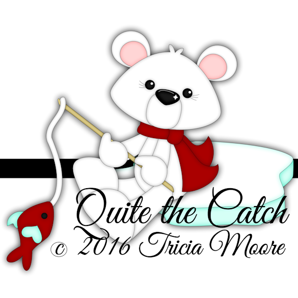 quite the catch cut file digi stamp clipart bear winter