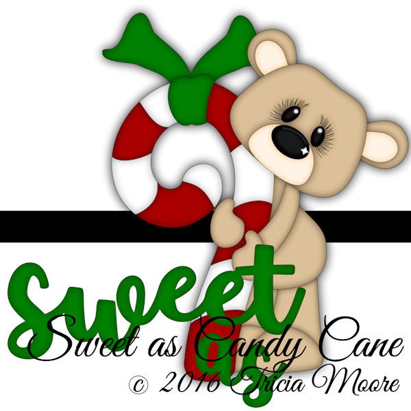 candy cane candycane bear christmas