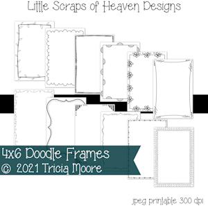 4X6 Doodle Frames