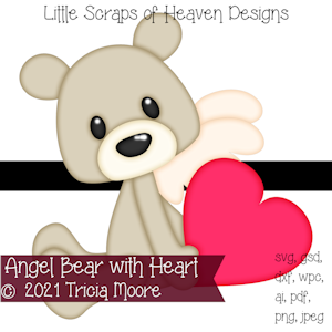 Angel Bear with Heart