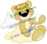 Angel Bear with Scissors