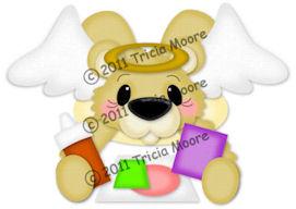 Angel Bear Gluing Pattern