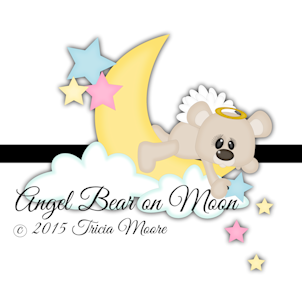 Angel Bear on Moon