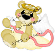 Angel Bear with Ribbon Pattern