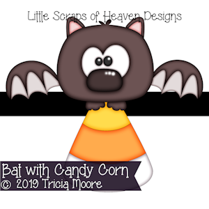 Bat with Candy Corn