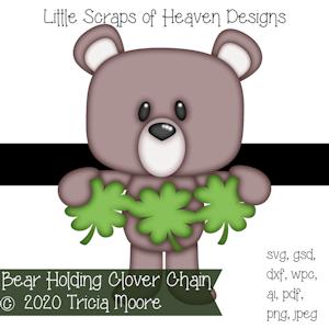 Bear Holding Clover Chain