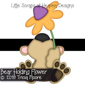 Bear Holding Flower