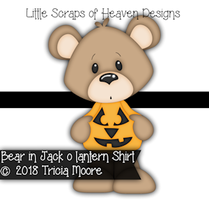 Bear in Jack o Lantern Shirt