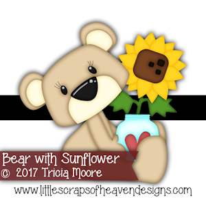 Bear with Sunflower