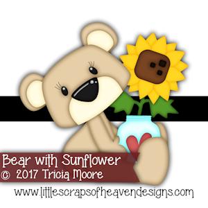 Bear with Sunflower