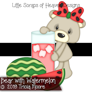 Bear with Watermelon
