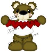 Bear Holding Heart Chain