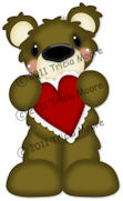 Bear Holding Heart