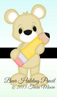 Bear Holding Pencil