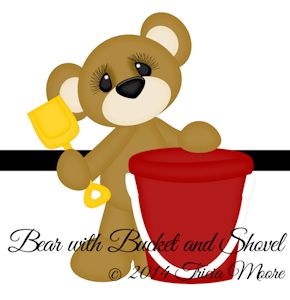 Bear with Bucket and Shovel