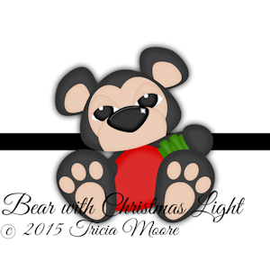 Bear with Christmas Light
