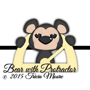 Bear with Protractor