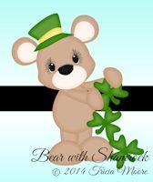 Bear with Shamrock Chain