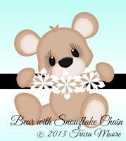 Bear with Snowflake Chain