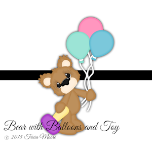 Bear with Balloons and Toy