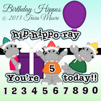 Birthday Hippos