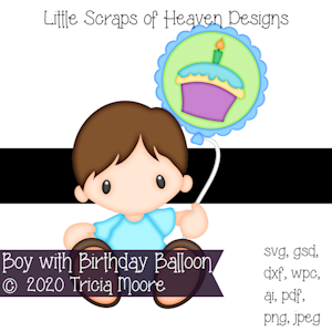 Boy with Birthday Balloon