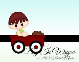 Boy in Wagon