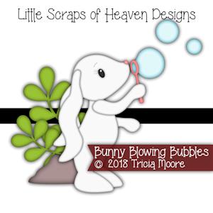 Bunny Blowing Bubbles