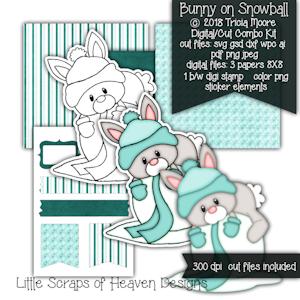 Bunny on Snowball
