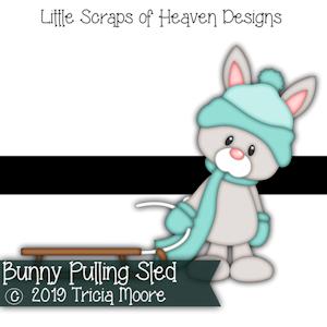 Bunny Pulling Sled