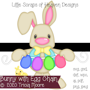 Bunny with Egg Chain