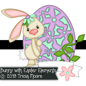 Bunny with Easter Elements