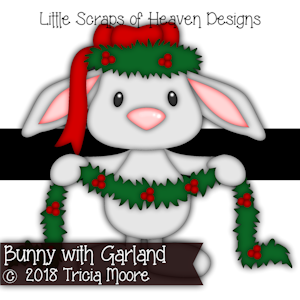 Bunny with Garland