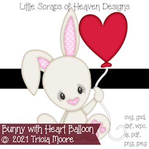 Bunny with Heart Balloon
