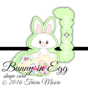 Bunny in Egg shape card