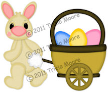 Bunny Pulling Wagon Pattern
