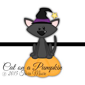 Cat on a Pumpkin