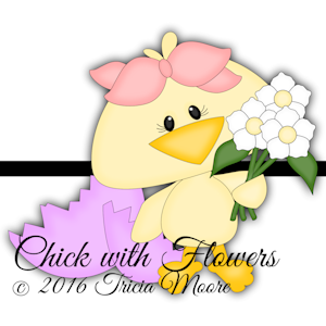 Chick with Flower